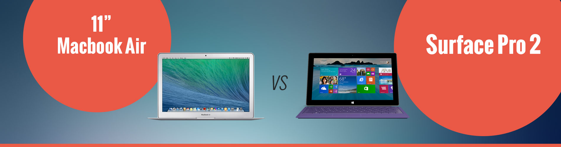 Apple 11in MacBook Air vs Microsoft Surface Pro 2
